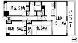 ファミール雲雀丘花屋敷弐番館[2階]の間取り