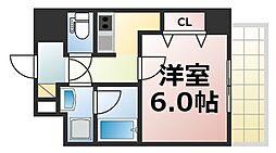 U-ro北巽 6階1Kの間取り