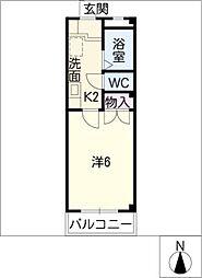 シャトー21[1階]の間取り