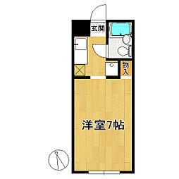 青山コーポIII[1階]の間取り