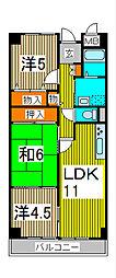 埼玉県さいたま市浦和区高砂3丁目の賃貸マンションの間取り