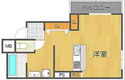 PSマンション中加賀屋[5階]の間取り