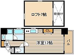 ZEUS梅田AQUA[6階]の間取り