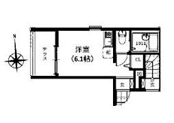 東京都杉並区高円寺北4丁目の賃貸アパートの間取り