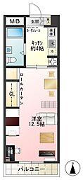 三ツ木小金井ビル[4階]の間取り