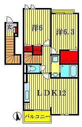 アバンツァートI・II[2階]の間取り