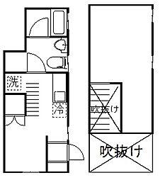 グランディール桜新町[1階]の間取り
