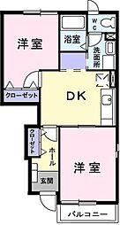 ハピネス瀬崎[1階]の間取り