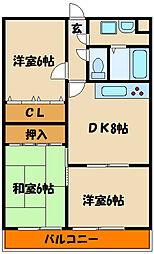 オーシャンビュー江井が島[2階]の間取り