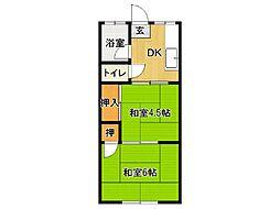 佳須賀コーポ[205号室]の間取り