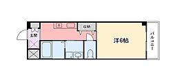兵庫県姫路市城北新町3丁目の賃貸マンションの間取り