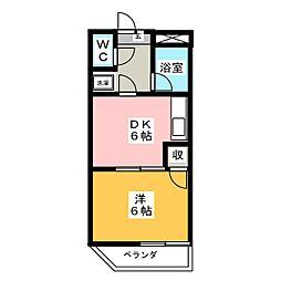 MIYOSHIBLD[3階]の間取り