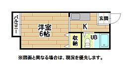 福岡県北九州市小倉北区清水2丁目の賃貸アパートの間取り