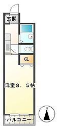 サンロイヤル東丸之内[706号室]の間取り