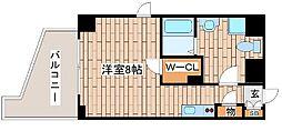 JR東海道・山陽本線 灘駅 徒歩2分の賃貸マンション 8階ワンルームの間取り