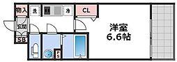 レシオス大阪城北詰 8階1Kの間取り