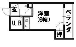 シャトージュネス田中[303号室]の間取り