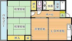 サンフル永犬丸 B棟[1階]の間取り