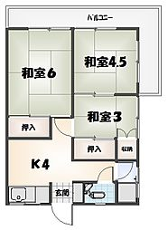 西條マンション[8号室]の間取り