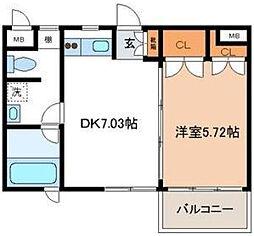 アドレー渋谷本町アネックス[A302号室]の間取り