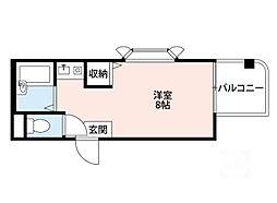 大阪府吹田市岸部南1の賃貸マンションの間取り