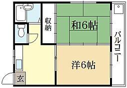 シャトー中徳[2階]の間取り