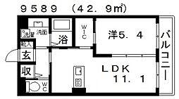 仮)WILLII[105号室号室]の間取り