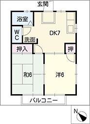 シャトー伊勢[2階]の間取り