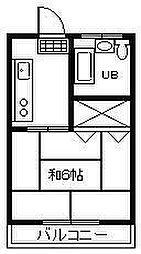 サンライズワタナベマンション[511号室]の間取り