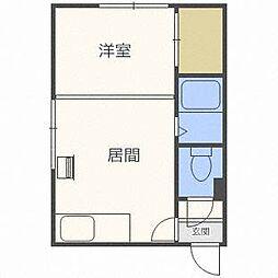 北海道札幌市白石区栄通18丁目の賃貸アパートの間取り