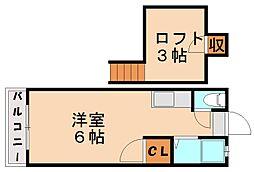 セーヌ千早IV[2階]の間取り