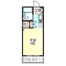ビックジョイII[111号室]の間取り