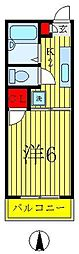 リブステージ本田3[1階]の間取り