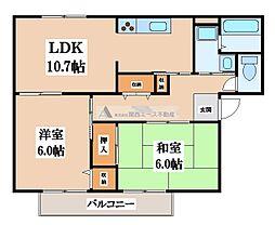 メゾンニュー池島 B棟[1階]の間取り