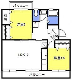 原田マンション[303号室号室]の間取り