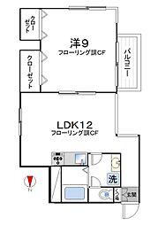 MKハイツ[3階]の間取り