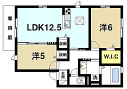 奈良県磯城郡田原本町大字八尾の賃貸アパートの間取り