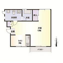津村マンション[3階]の間取り