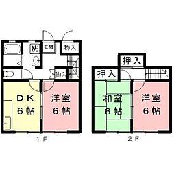 岐阜県羽島市正木町須賀小松の賃貸アパートの間取り
