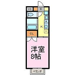 愛知県知多市新知台2丁目の賃貸アパートの間取り
