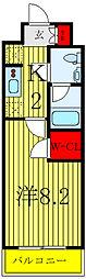 JR埼京線 浮間舟渡駅 徒歩10分の賃貸マンション 1階1Kの間取り