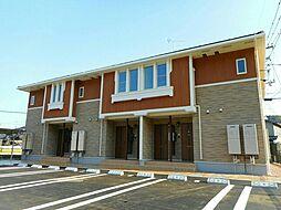 広島県福山市神辺町字上御領の賃貸アパートの外観