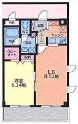 大室ノースコート[305号室号室]の間取り