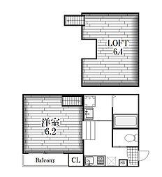 グリーンリーフ名城清水[1階]の間取り