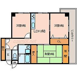 セルバ山本II[3階]の間取り