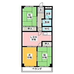 アムール21[3階]の間取り