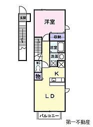 ドリーム新町[2階]の間取り