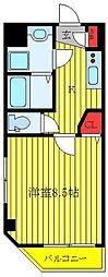 JR埼京線 板橋駅 徒歩2分の賃貸マンション 5階1Kの間取り