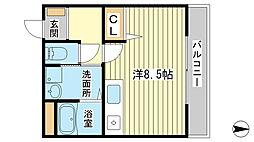 兵庫県姫路市下寺町の賃貸マンションの間取り