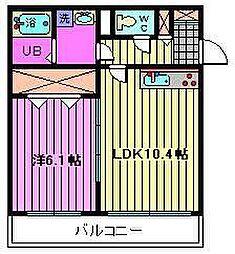 グランステージ東浦和[205 A号室]の間取り
